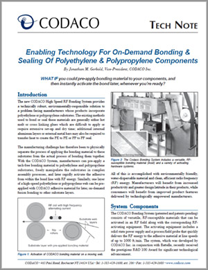 Tech Note about enabling manufacturing technology