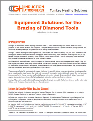 White paper about brazing manufacturing diamond tools