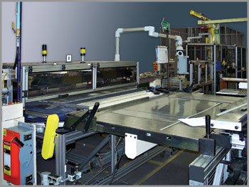 large manufacturing machine with retouching